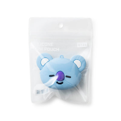 BT21 KOYA Silicone Mini Pouch Light Blue