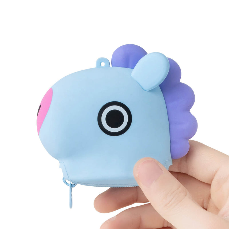 BT21 MANG Silicone Mini Pouch Light Blue