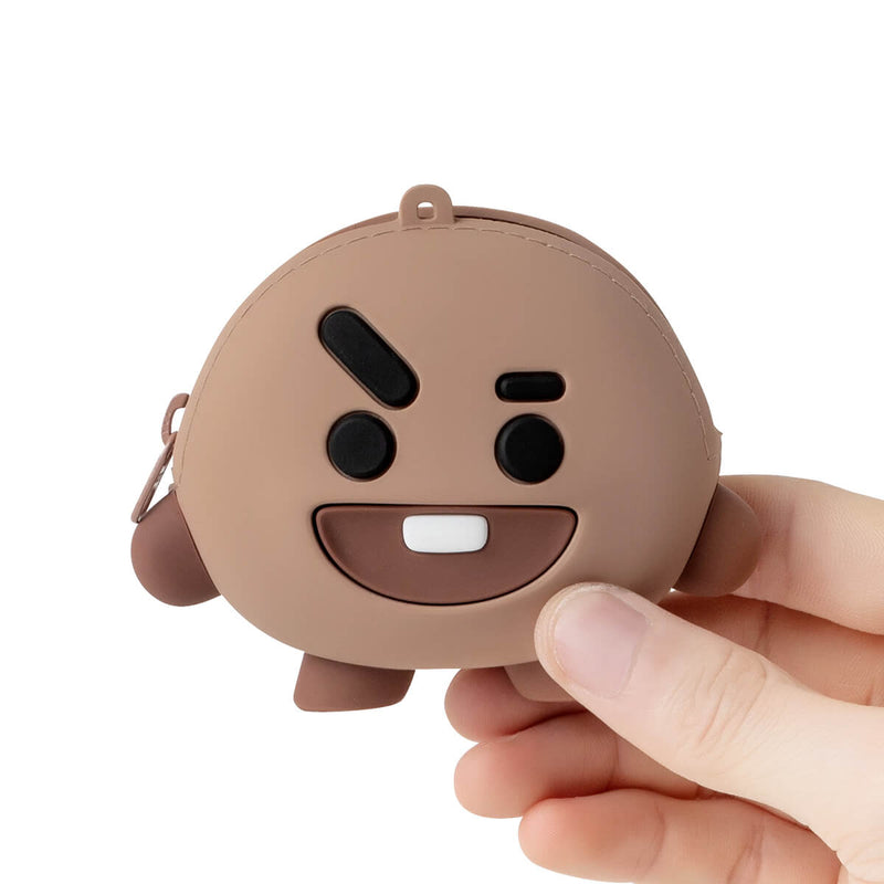 BT21 SHOOKY Silicone Mini Pouch Light Brown