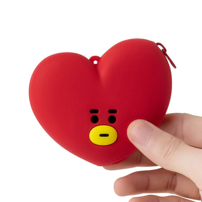 BT21 TATA Silicone Mini Pouch Red