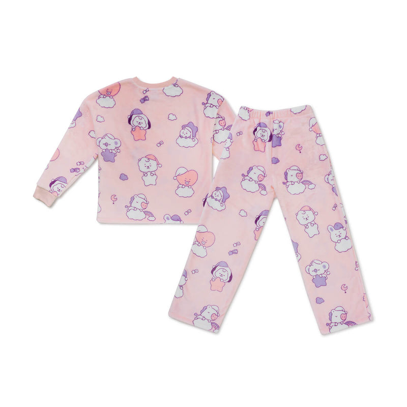 BT21 BABY Dream Adult Sherpa Pajama Set Pink