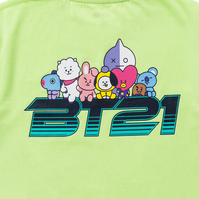 BT21 20 Space Wappen Planet T-Shirt Lime