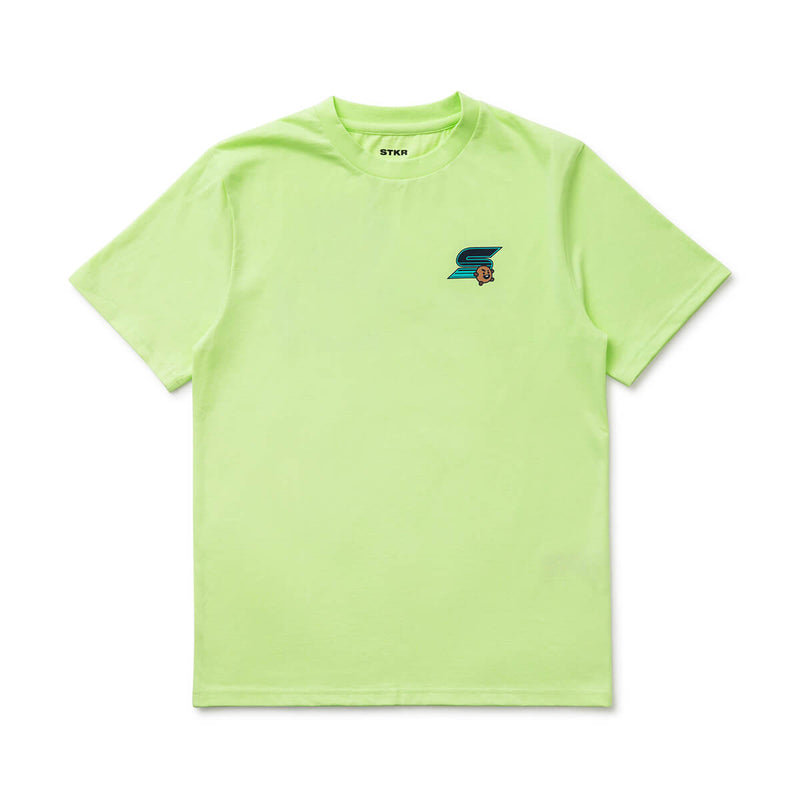 BT21 SHOOKY 20 Space Wappen T-Shirt Lime