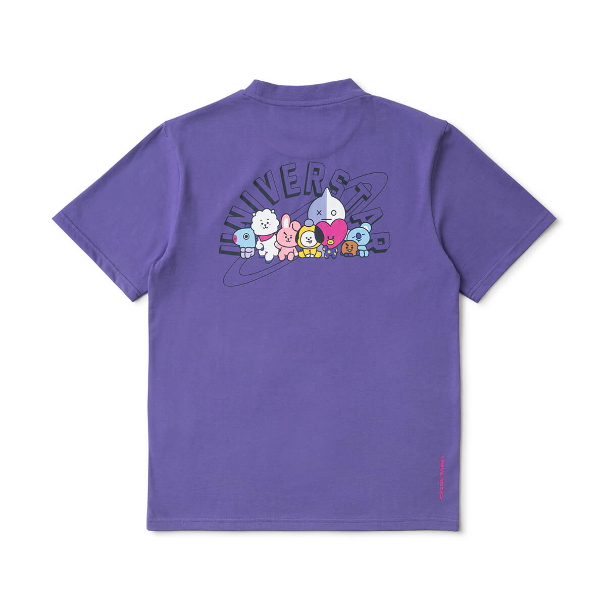 BT21 20 Space Wappen Hemisphere Lettering T-Shirt Purple