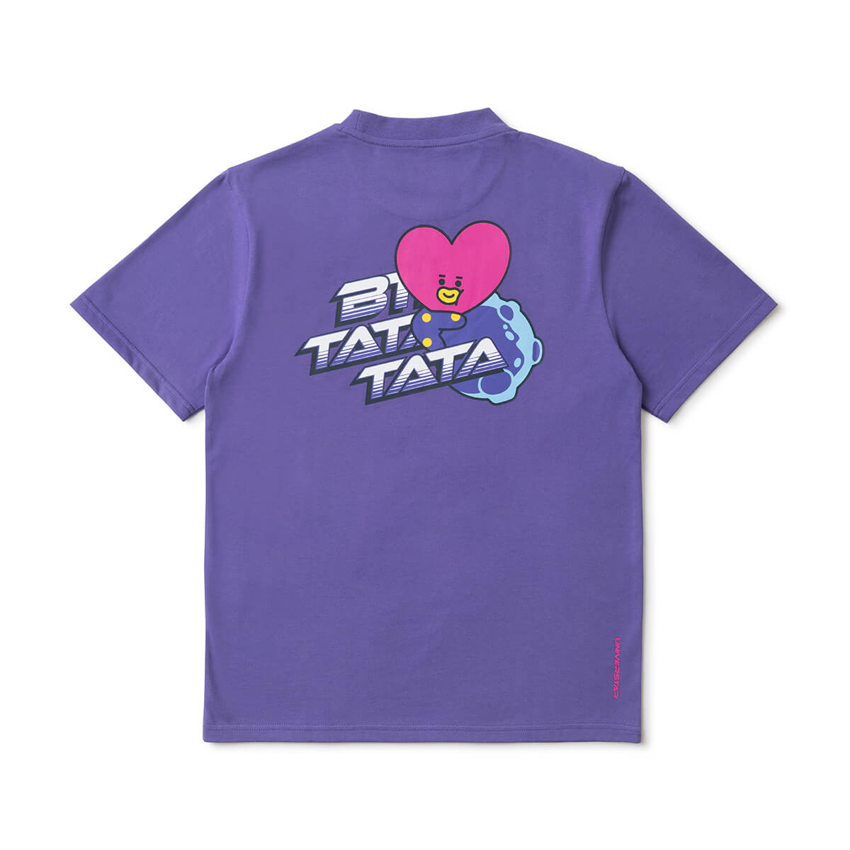 BT21 TATA 20 Space Wappen T-Shirt Purple