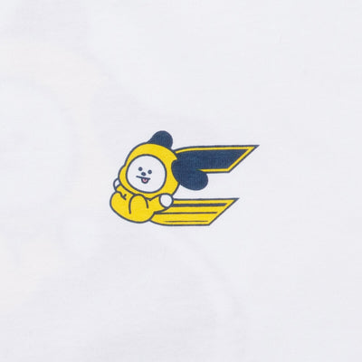 BT21 CHIMMY 20 Space Wappen T-Shirt White