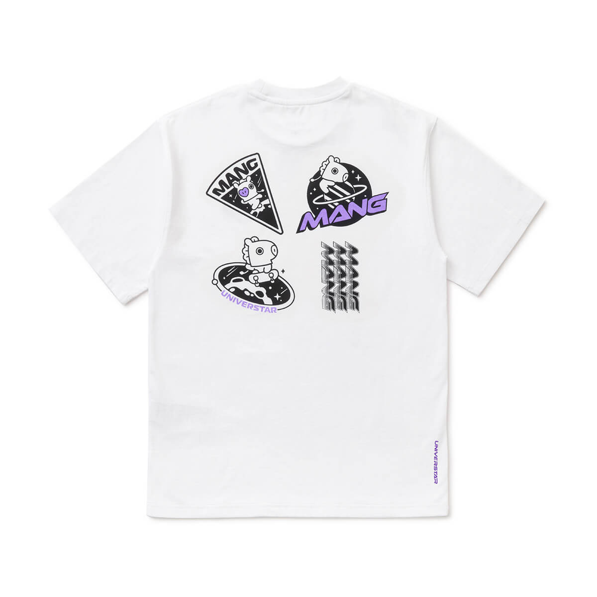 BT21 MANG 20 Space Wappen T-Shirt White