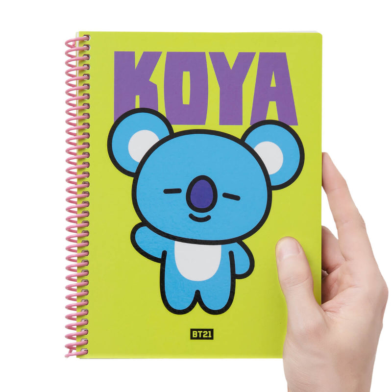 BT21 KOYA Heart Spring Notebook