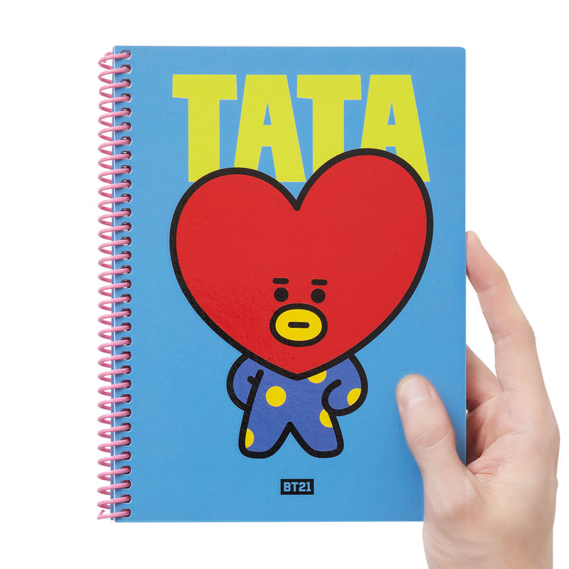 BT21 TATA Heart Spring Notebook