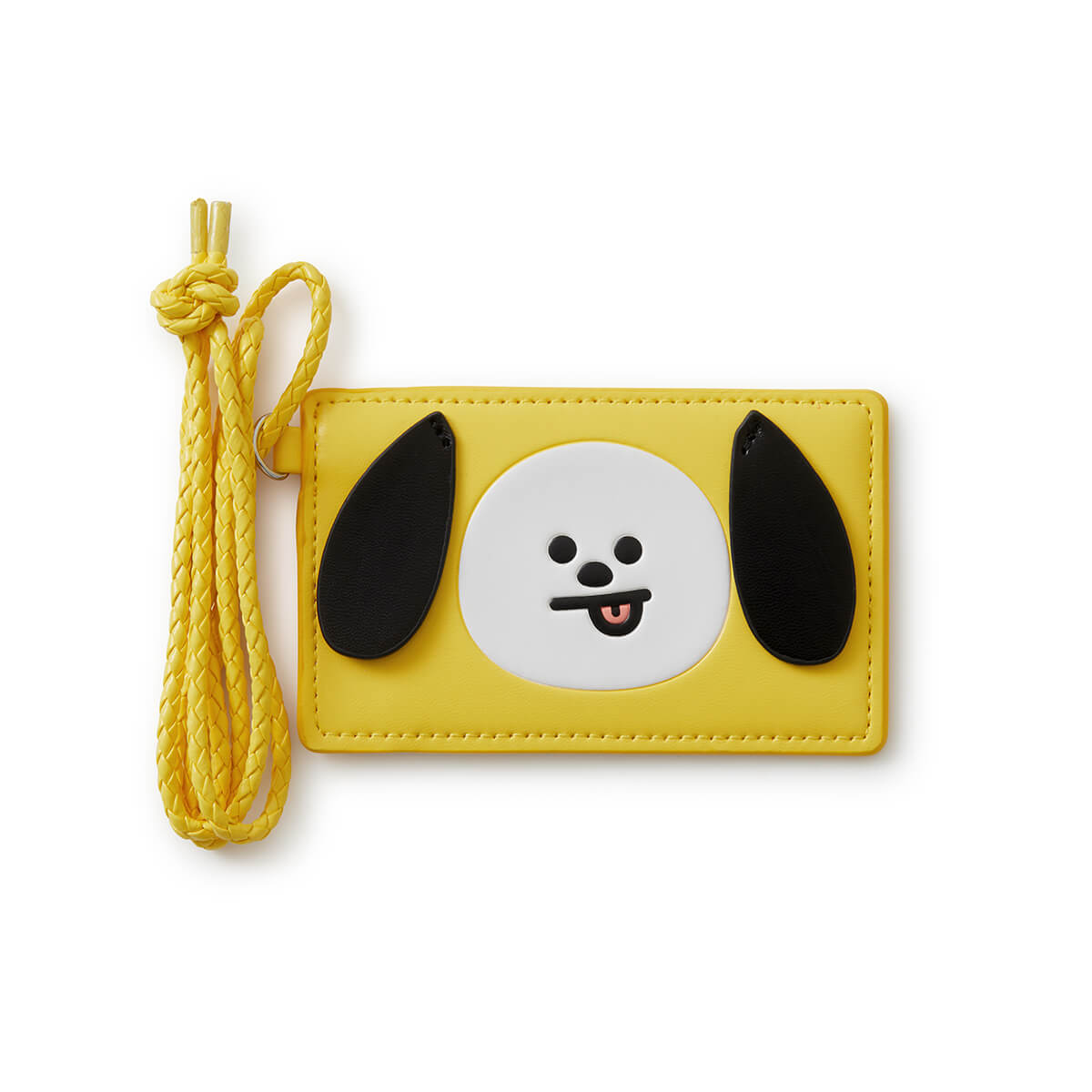 BT21 CHIMMY 2-Pocket Neck Strap Wallet Yellow