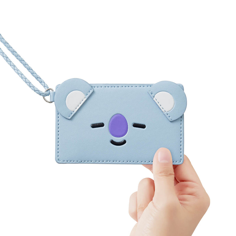BT21 KOYA 2-Pocket Neck Strap Wallet Light Blue