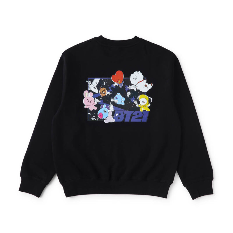 BT21 CHARACTERS Space Squad Sweater Black