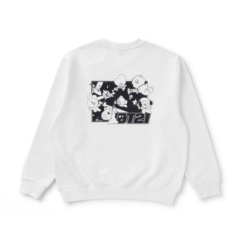 BT21 CHARACTERS Space Squad Sweater White