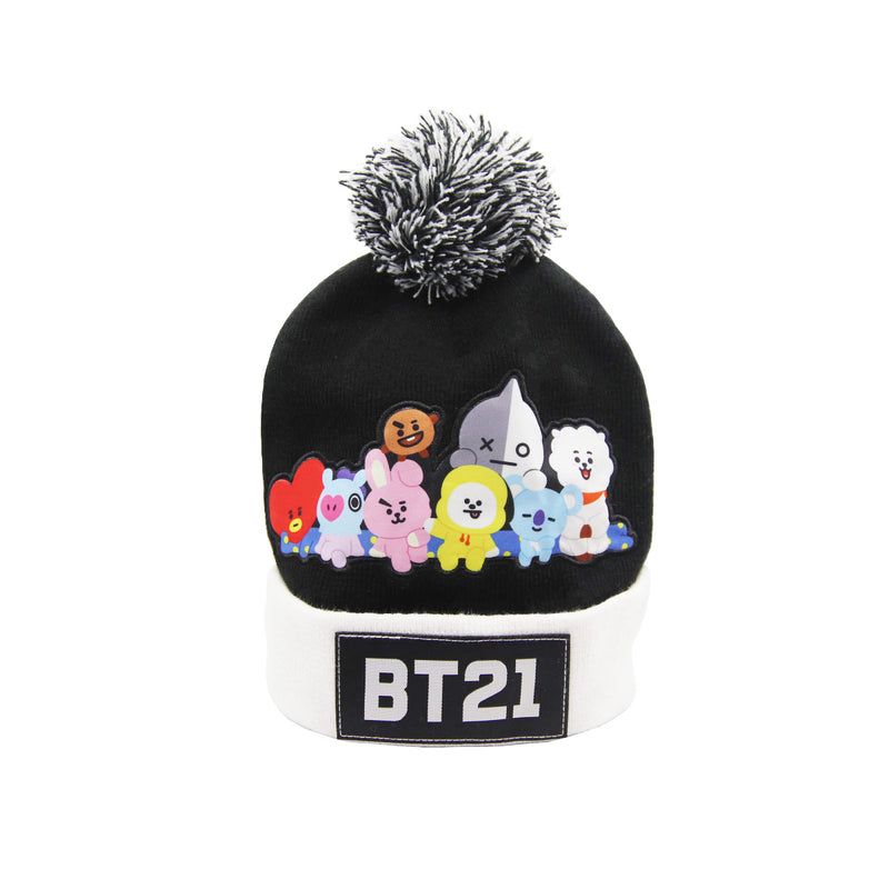 BT21 Knit Beanie & Glove Set