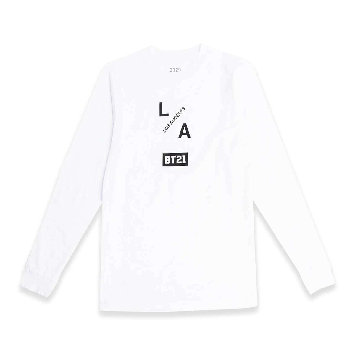 BT21 Group LA Long Sleeve Top White