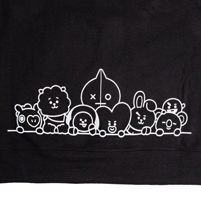 BT21 Group NY Hoodie Black