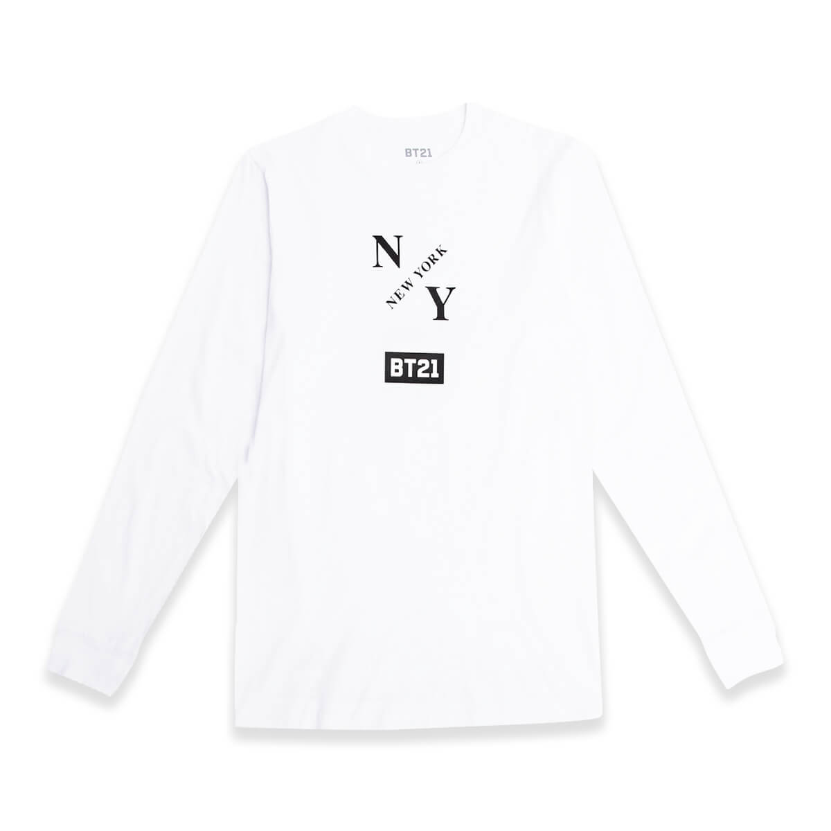 BT21 Group NY Long Sleeve Top White