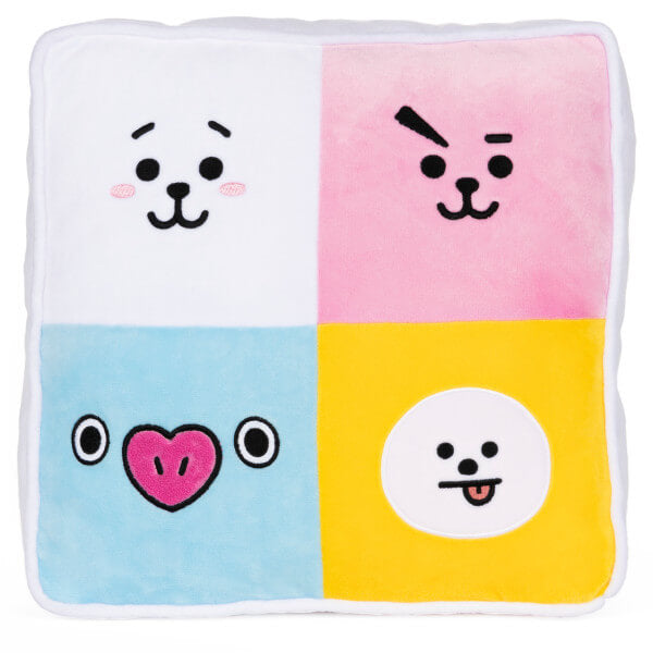 BT21 Character Double Sided Square Pillow 12""