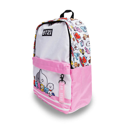 BT21 Urban Nylon Backpack Pink