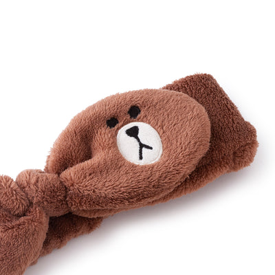 LINE FRIENDS BROWN Ribbon Hair Band