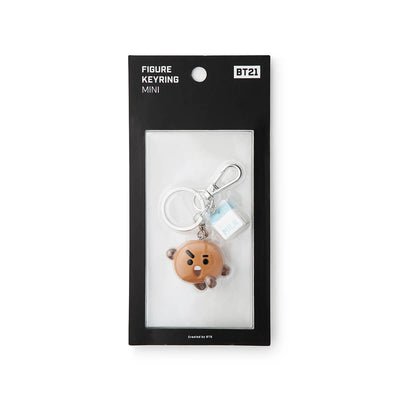 BT21 SHOOKY Mini Figure Keyring