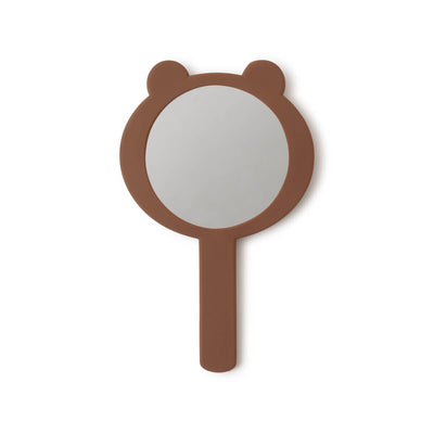 BROWN Silicone Hand Mirror