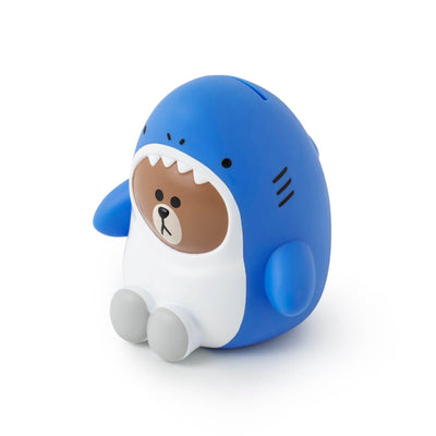 LINE FRIENDS SHARK BROWN Coin Bank