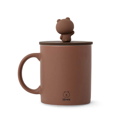 BROWN Basic Mug Cup and Cover