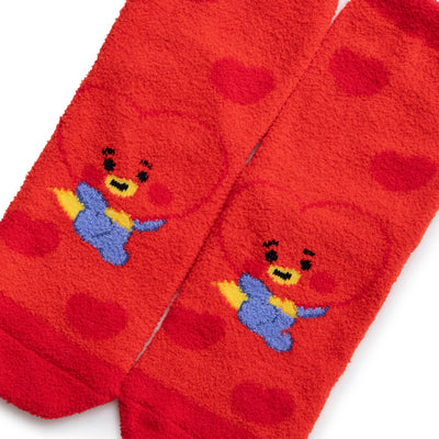 BT21 TATA BABY Fuzzy Sleep Socks