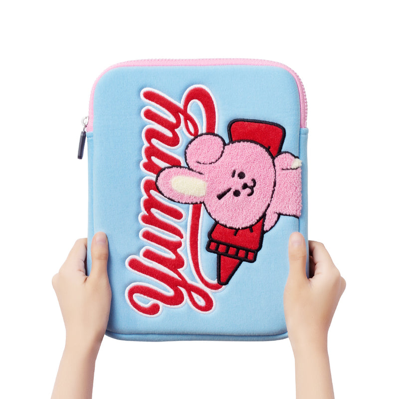 BT21 COOKY Bite Ppogeul Tablet Pouch 10""