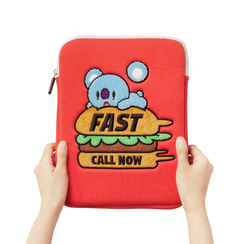 BT21 KOYA Bite Ppogeul Tablet Pouch 10""