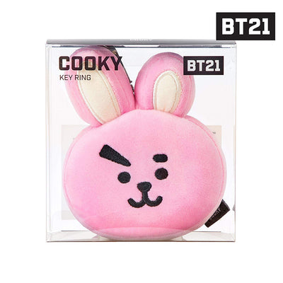 BT21 COOKY Face Plush Keychain