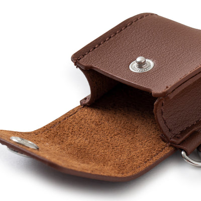 BROWN Faux Leather AirPods Case Cover