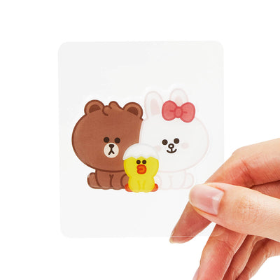 LINE FRIENDS MINI BROWN & FRIENDS Epoxy Decal Sticker (32)