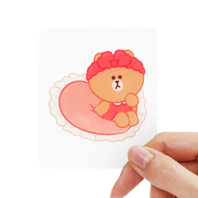 LINE FRIENDS CHOCO Epoxy Decal Sticker (21)
