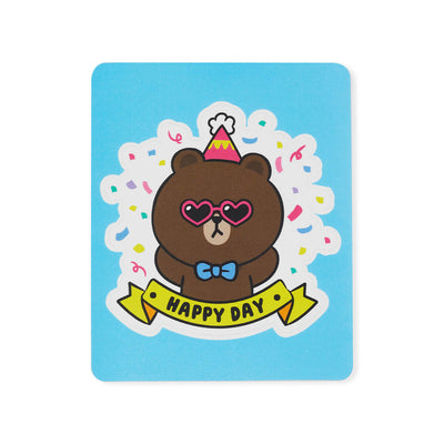 LINE FRIENDS BROWN Removable Decal Sticker (07)