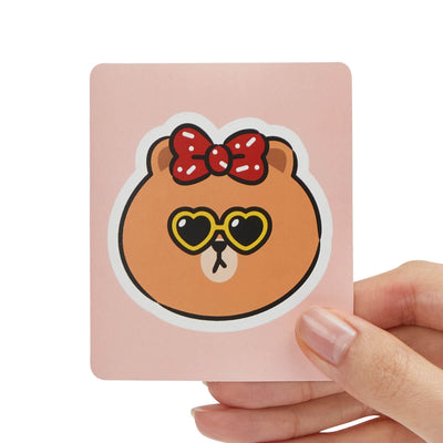 LINE FRIENDS CHOCO Removable Decal Sticker (22)