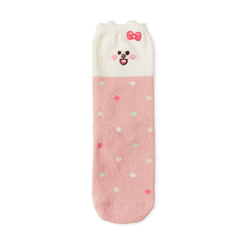 LINE FRIENDS CONY Mini Friends Fuzzy Sleep Socks