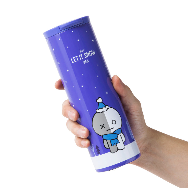 BT21 VAN Winter Theme Slim Stainless Steel Tumbler
