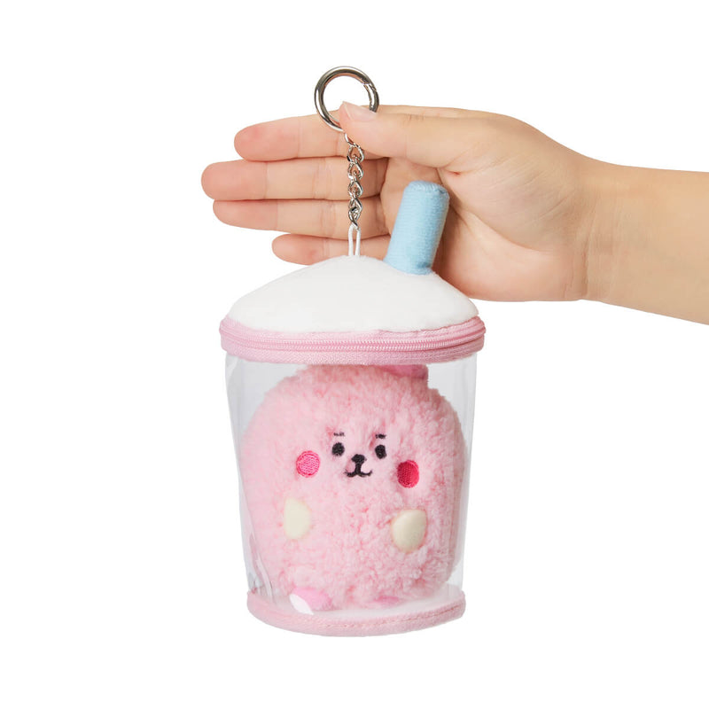 BT21 COOKY BABY Boucle Bubble Tea Doll Bag Charm