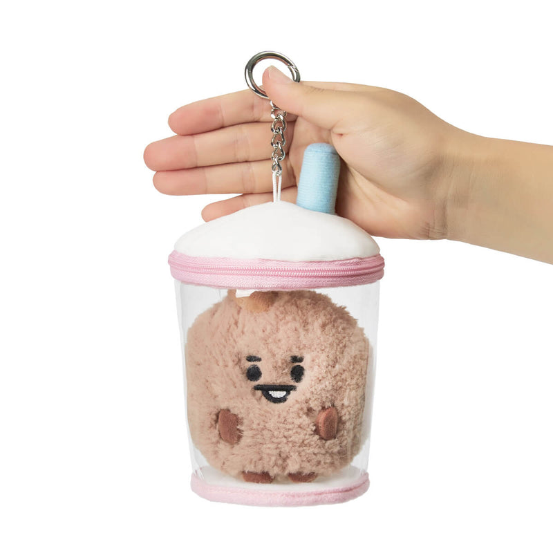 BT21 SHOOKY BABY Boucle Bubble Tea Doll Bag Charm