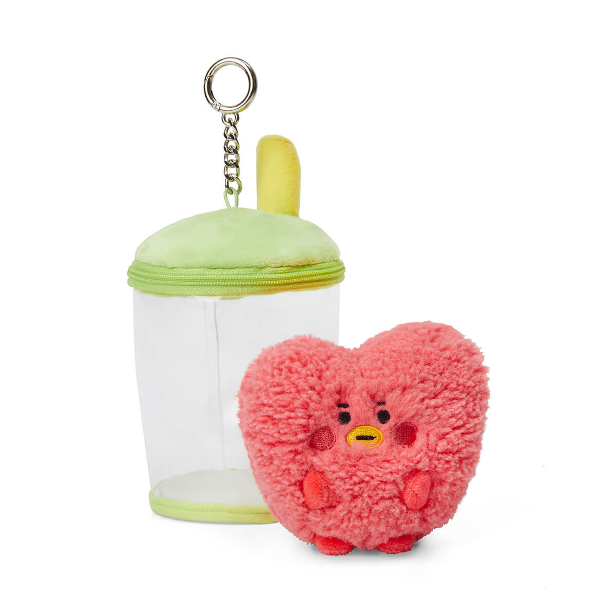 BT21 TATA BABY Boucle Bubble Tea Doll Bag Charm