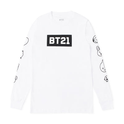 BT21 Face Long Sleeve T-Shirt White
