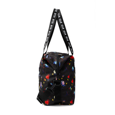 BT21 Space Squad Pattern Duffel Bag Black