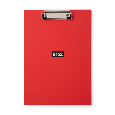 BT21 BITE Clipboard & Notepad Set Red