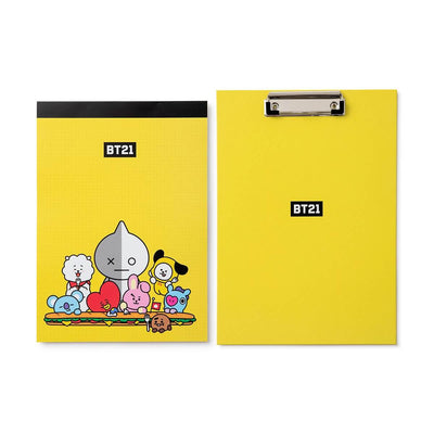 BT21 CHARACTERS BITE Clipboard Notepad Set YE