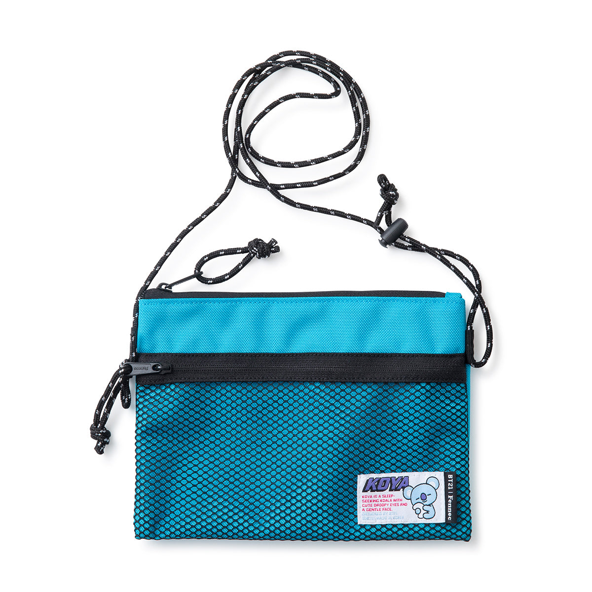 BT21 KOYA Fennec Mesh Mini Cross Bag