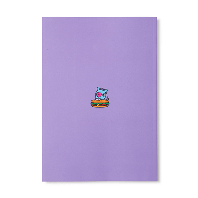 BT21 MANG BITE Ruled Note