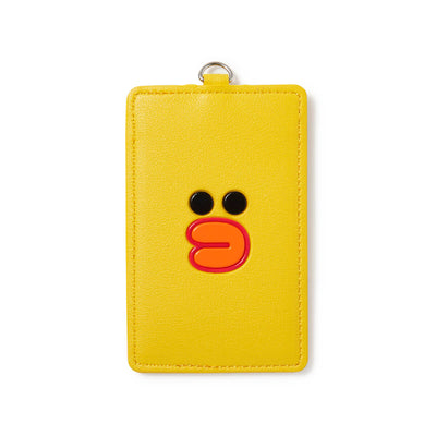 LINE FRIENDS SALLY Faux Leather Name Tag Wallet