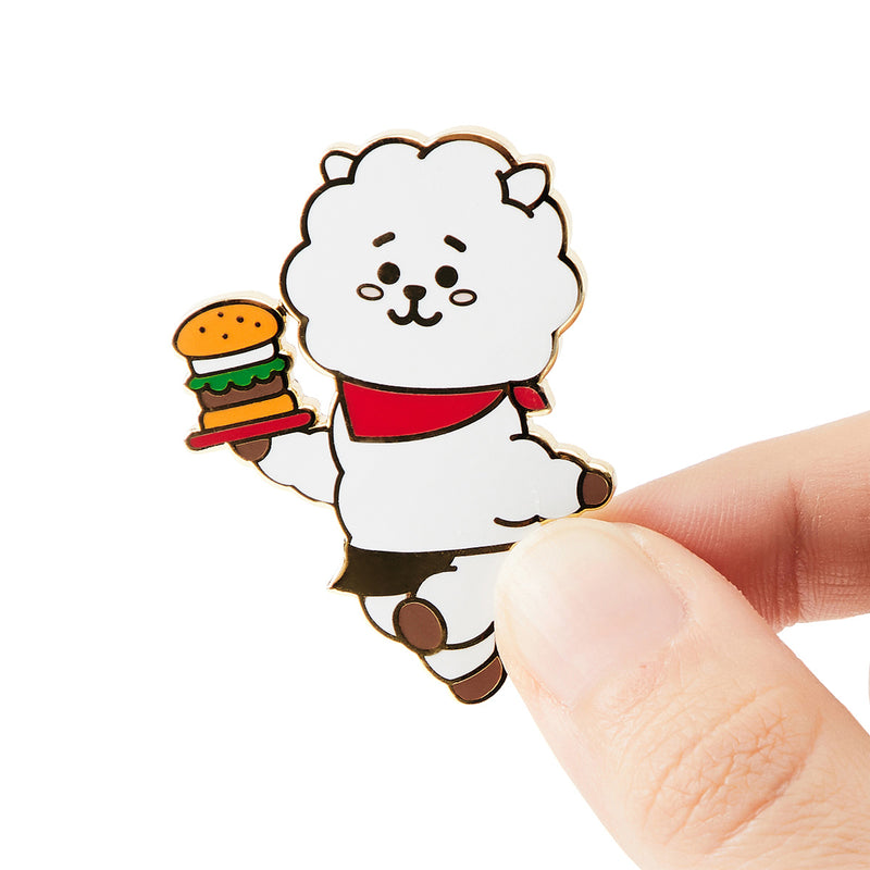 BT21 RJ Bite Metal Badge